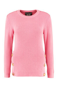 Ribbed crew-neck sweater, Crew neck sweaters Boutique Moschino woman