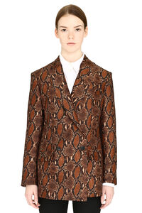 Printed double-breasted jacket, Blazers MSGM woman