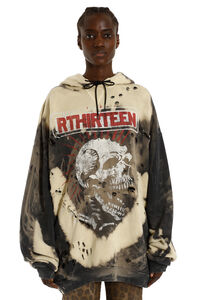 Distressed cotton hoodie, Hoodies R13 woman