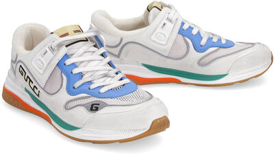 Ultrapace leather and fabric low-top sneakers