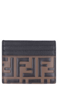 Logoed leather card holder, Wallets Fendi woman