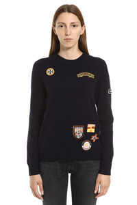 Patches cashmere sweater, Crew neck sweaters Tory Burch woman