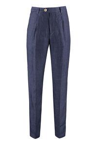 Pinstriped linen trousers, Formal trousers Brunello Cucinelli man