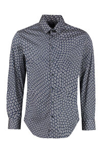Poplin shirt with logo print, Printed Shirts Giorgio Armani man