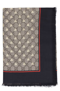 Scarf with bees and GG motif, Scarves Gucci woman