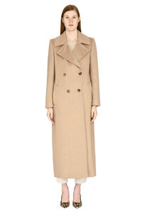 Sassari camel wool and cashmere long coat, Double Breasted Max Mara woman