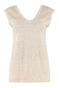 Striped linen top, Tanks and Camis Brunello Cucinelli woman