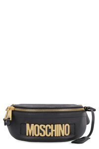 Logoed leather belt bag, Beltbag Moschino woman