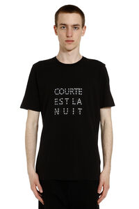 T-shirt in cotone con stampa, T-shirt manica corta Saint Laurent man