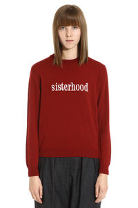 Sisterhood crew-neck wool sweater, Crew neck sweaters Maison Labiche woman