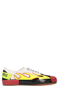 Flame detail canvas sneakers, Low Top Sneakers Palm Angels man