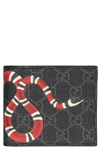 GG Supreme fabric flap-over wallet, Wallets Gucci man