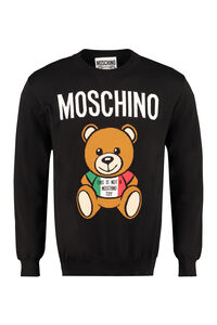 Intarsia cotton sweater, Crew necks sweaters Moschino man