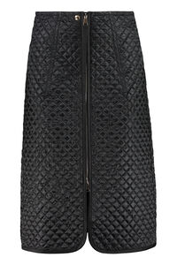 Quilted nylon skirt, Knee Length skirts 2 Moncler 1952 woman