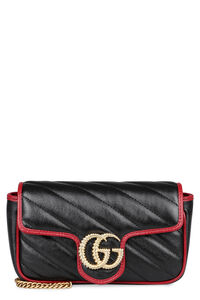 Mini-bag GG Marmont in pelle matelassé, Borsa a tracolla Gucci woman
