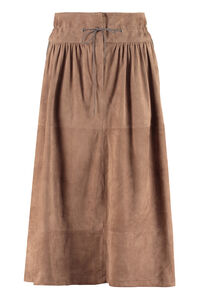 Suede skirt, Leather skirts Fabiana Filippi woman