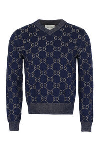 GG jacquard sweater, V-necks Gucci man