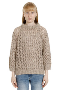 Mohair and cashmere sweater, Crew neck sweaters Brunello Cucinelli woman