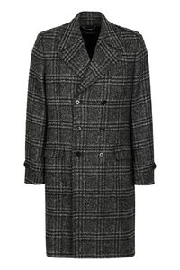 Wool blend double-breasted coat, Overcoats Dolce & Gabbana man