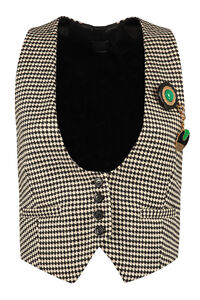 Turbine single-breasted vest, Blazers Pinko woman