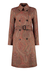 Paisley double-breasted coat, Knee Lenght Coats Etro woman