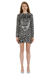Jacquard knit mini-dress, Mini dresses Alberta Ferretti woman