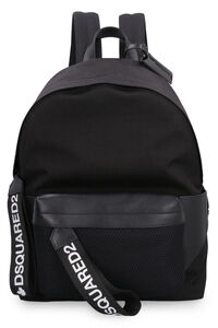 Leather and canvas backpack, Backpack Dsquared2 man