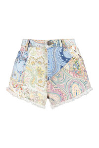 Printed denim shorts, Denim Shorts Etro woman