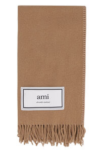Fringed wool scarf, Scarves AMI man
