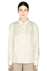 Long-sleeved silk blouse, Blouses Tory Burch woman