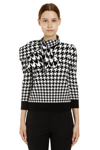 Houndstooth jacquard pullover, Patterned sweaters Alexander McQueen woman