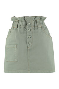 Denim mini skirt, Denim Skirts Fendi woman