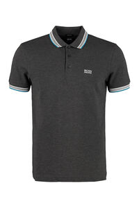 Paddy piqué polo shirt with decorative inserts, Short sleeve polo shirts Boss Hugo Boss man