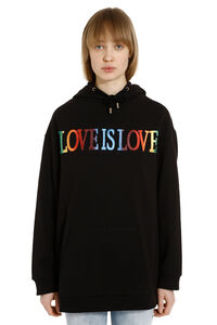 Love Is Love cotton hoodie, Hoodies Alberta Ferretti woman