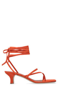 Leather thong-sandals, Mid Heels sandals Paris Texas woman