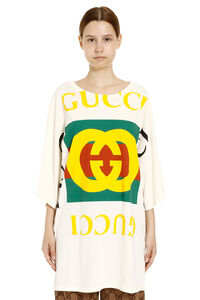 Oversized T-shirt with Gucci logo, T-shirts Gucci woman