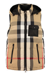 Hooded reversible bodywarmer, Vests and Gilets Burberry woman