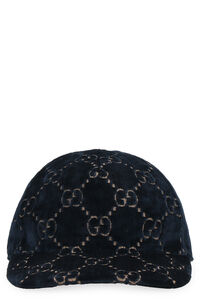 Velvet baseball cap with logo, Hats Gucci woman