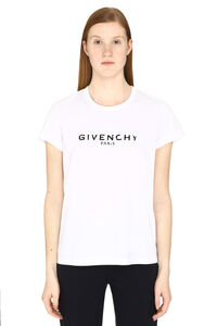 Logo print cotton t-shirt, T-shirts Givenchy woman