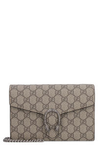 Dionysus GG supreme fabric wallet on chain, Clutch Gucci woman