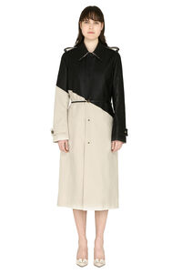 Cotton gabardine long trench coat, Raincoats And Windbreaker Bottega Veneta woman