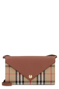 Fabric and leather crossbody wallet, Shoulderbag Burberry woman