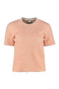 Embossed knit sweater, Crew neck sweaters Fendi woman