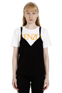 Printed cotton short sleeves T-shirt, T-shirts Kenzo woman