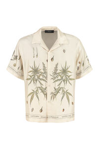 Botanical Leaves short sleeve silk shirt, Short sleeve Shirts AMIRI man