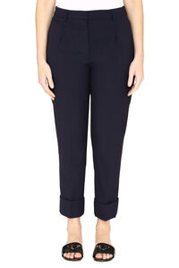 Virgin wool tailored trousers, Trousers suits Prada woman