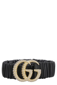 GG torchon buckle leather belt, Belts Gucci woman