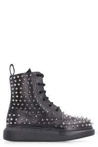 Pebbled leather brogue boots, Ankle Boots Alexander McQueen woman
