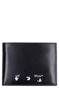 Leather flap-over wallet, Wallets Off-White man