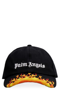 Burning embroidered baseball cap, Hats Palm Angels man